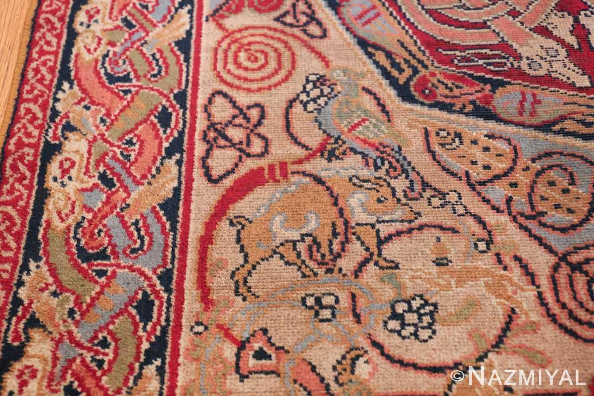 George Bain Small Celtic Hunting Rug 49836 Boar Parrot Nazmiyal