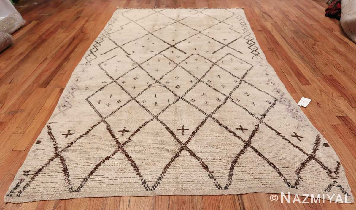 Ivory Background Vintage Moroccan Rug 49867 Whole Design Nazmiyal