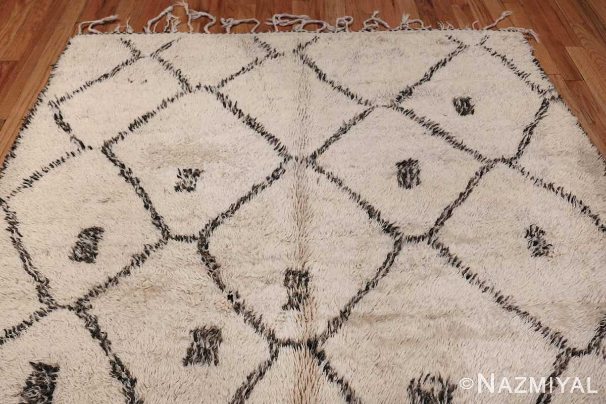 Ivory Background Vintage Moroccan Rug 49875 Top Design Nazmiyal