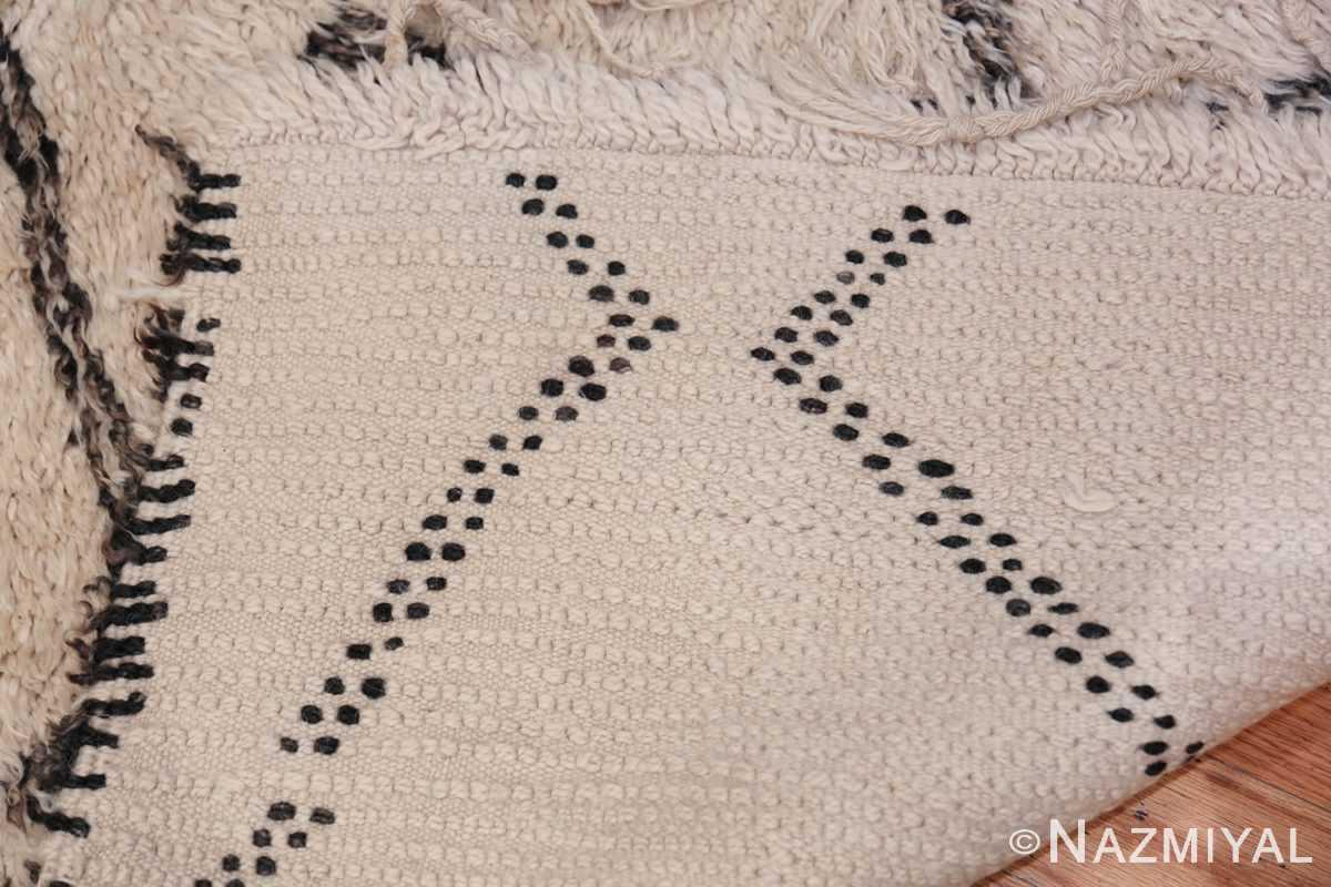 Ivory Background Vintage Moroccan Rug 49875 Whole Design Nazmiyal