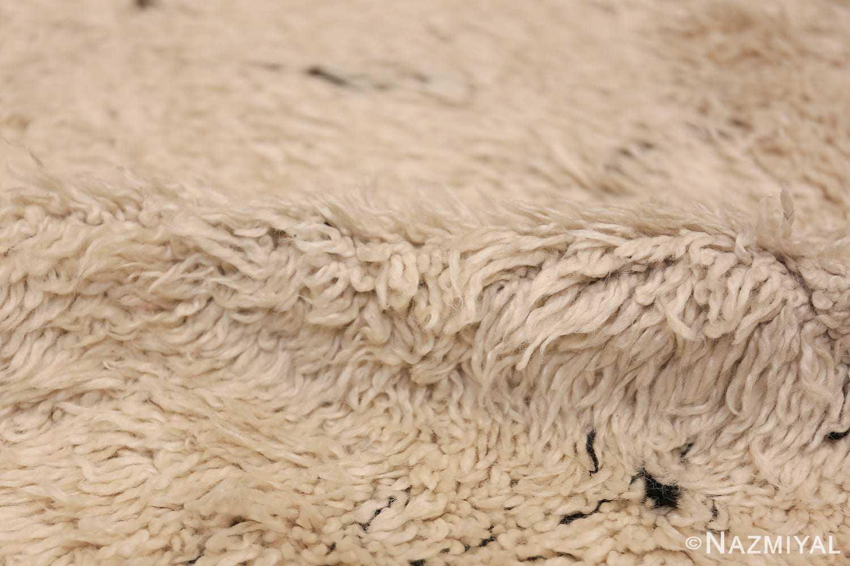 Ivory Room Size Vintage Moroccan Rug 49870 Dense Pile Nazmiyal