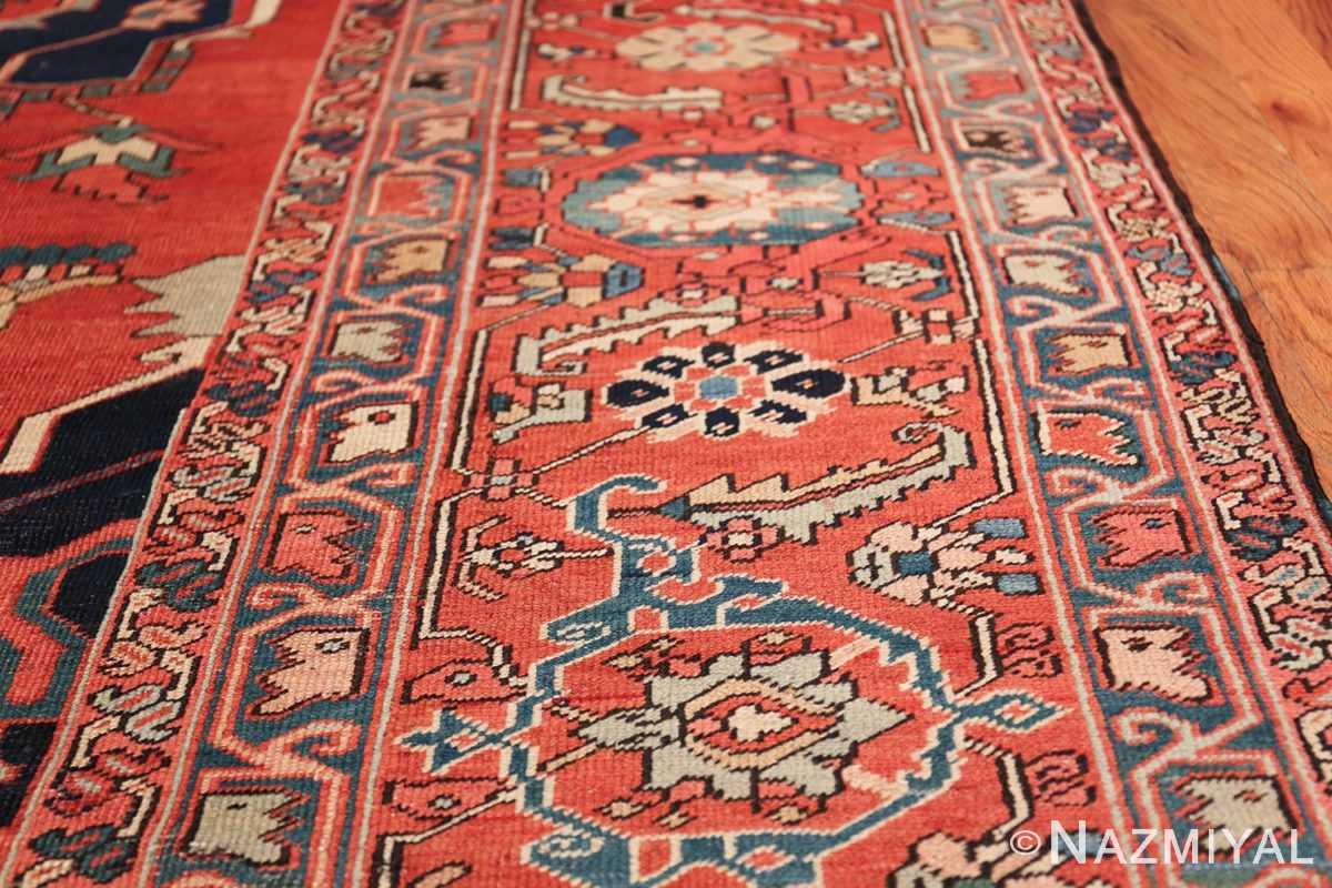 Large Antique Persian Serapi Rug 49595 Border Design Nazmiyal