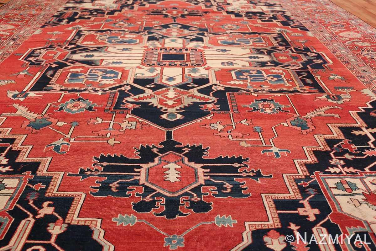 Large Antique Persian Serapi Rug 49595 Field Design Nazmiyal