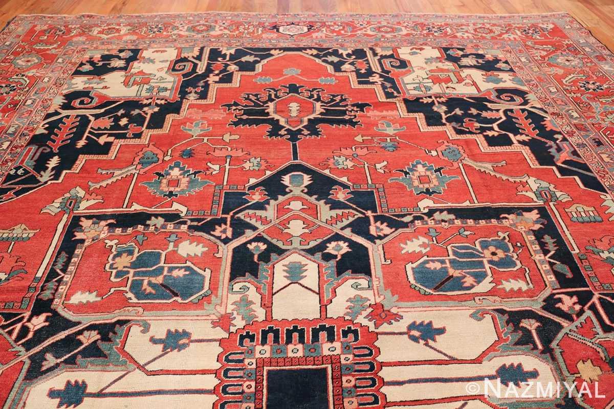 arge Antique Persian Serapi Rug 49595 Top Design Nazmiyal