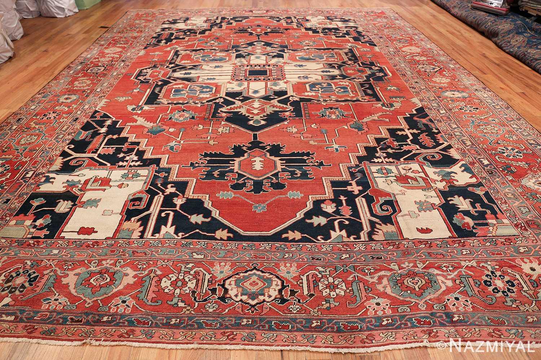 arge Antique Persian Serapi Rug 49595 Whole Design Nazmiyal