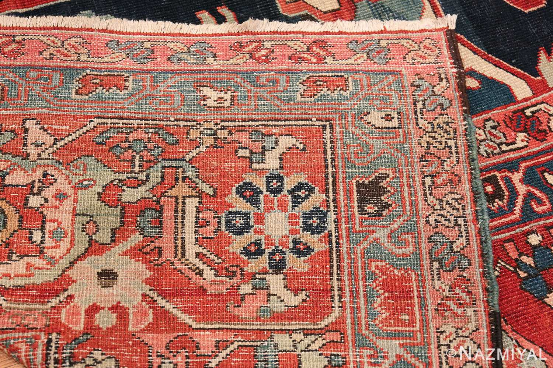 arge Antique Persian Serapi Rug 49595 Woven Knots Nazmiyal