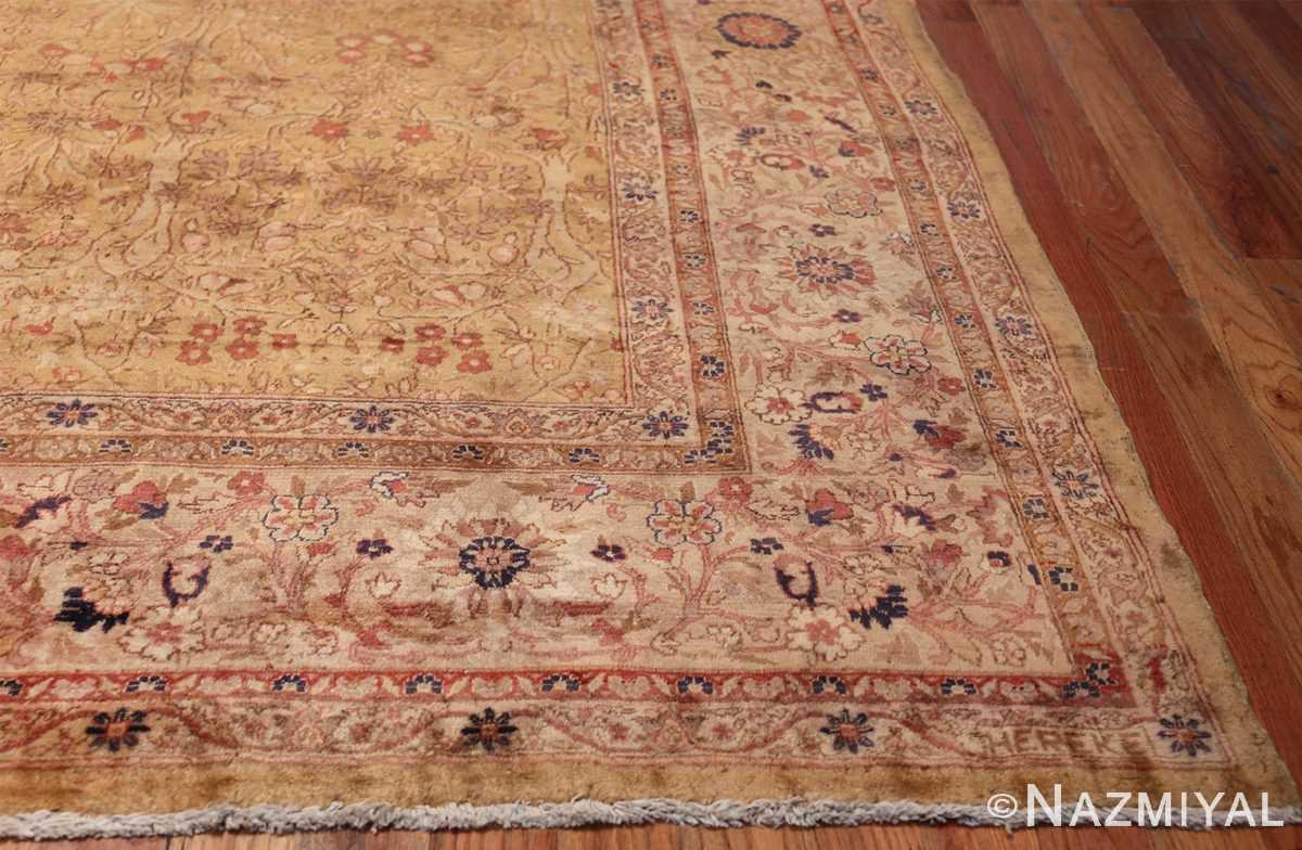 Oversize Antique Turkish Hereke Rug 50384 Side Corner Nazmiyal