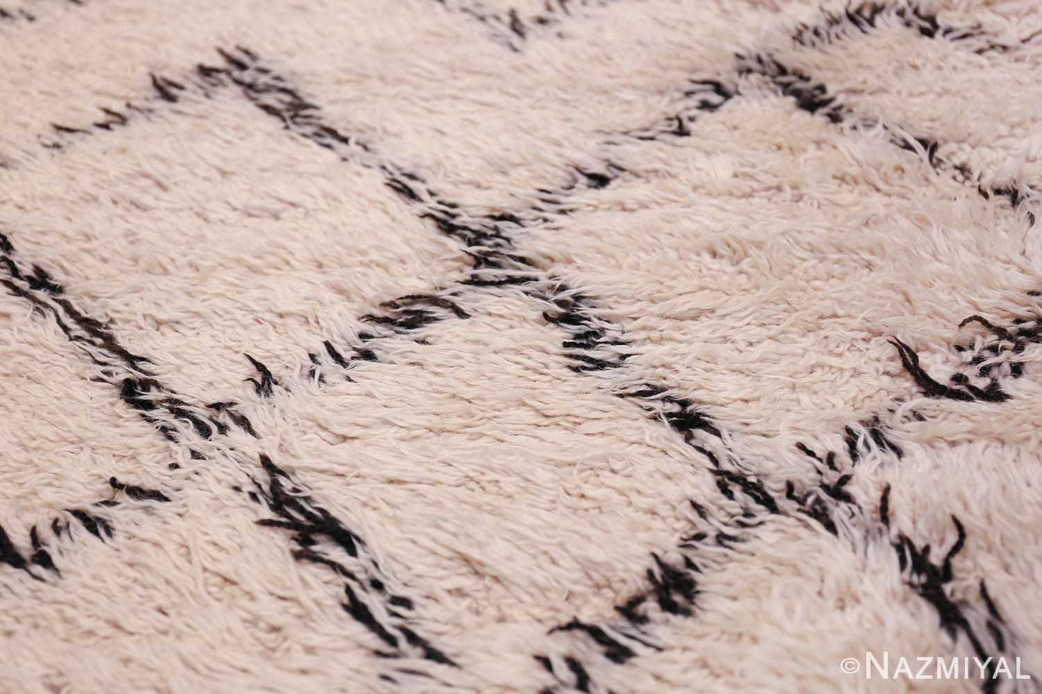 Soft Addition Moroccan Shaggy Beni Ourain Style Auckland AK01 Rugs in Cream Blue