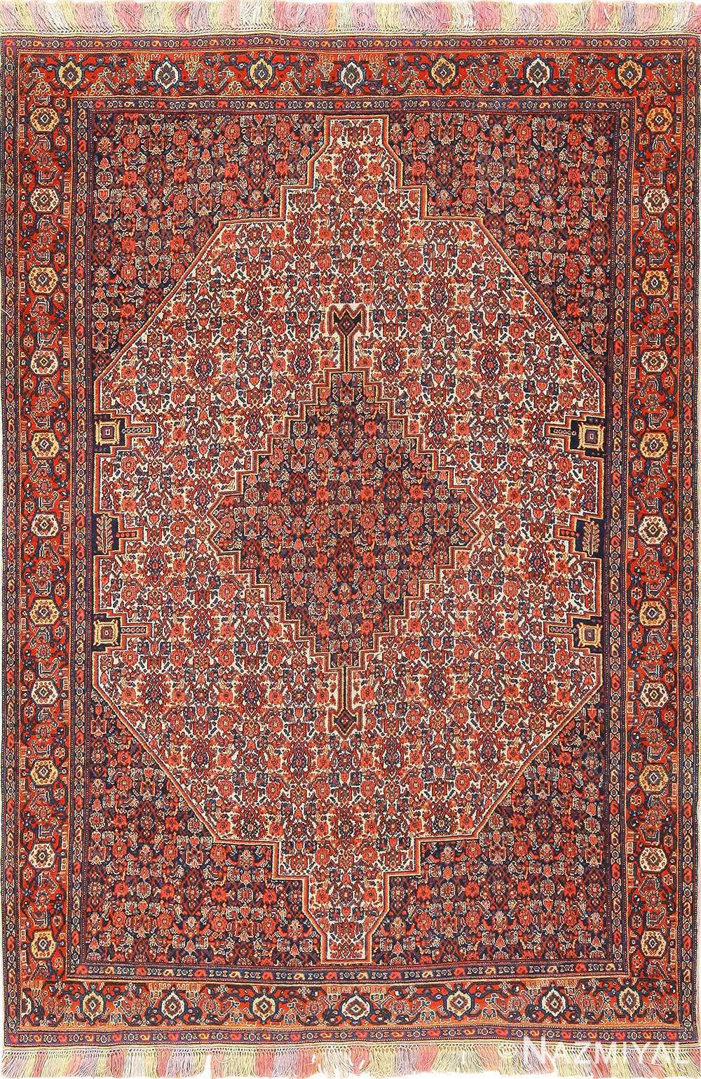 Beautiful Small Antique Persian Senneh Rug 49851 By Nazmiyal