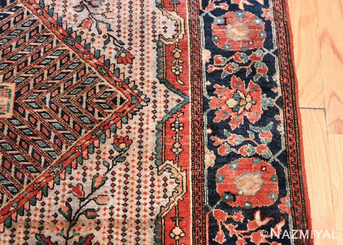 Small Size Antique Persian Farahan Rug 49842 Border Design Nazmiyal