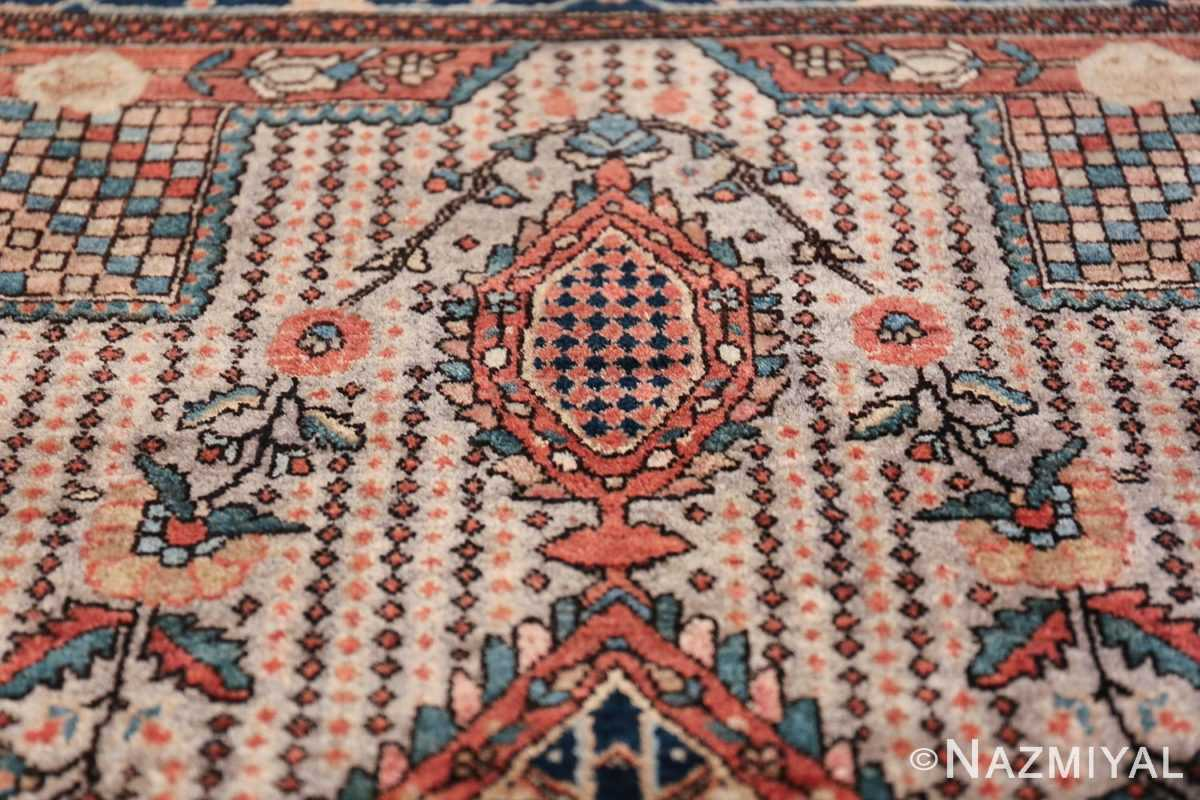 Small Size Antique Persian Farahan Rug 49842 Closeup Texture Nazmiyal