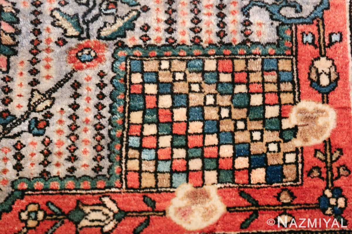 Small Size Antique Persian Farahan Rug 49842 Colorful Square Nazmiyal