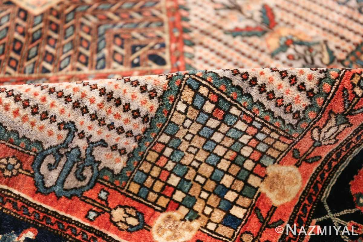 Small Size Antique Persian Farahan Rug 49842 geometric pile Nazmiyal