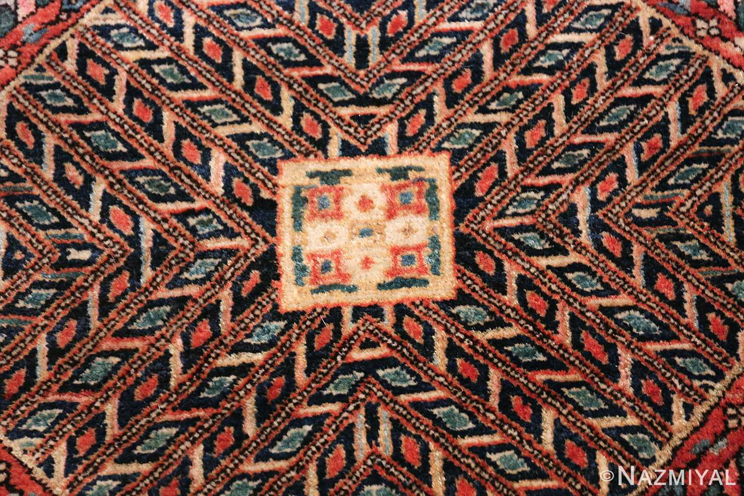 Small Size Antique Persian Farahan Rug 49842 Middle Part Nazmiyal