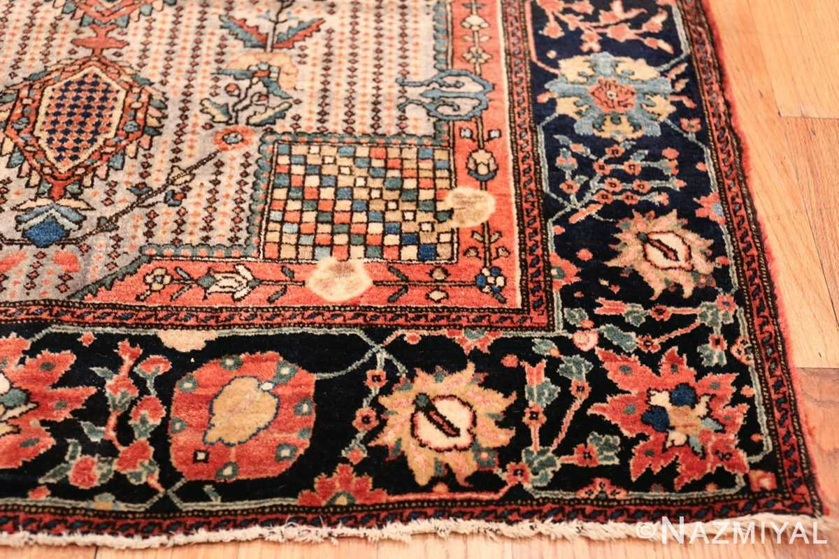 Small Size Antique Persian Farahan Rug 49842 Side Corner Namiyal