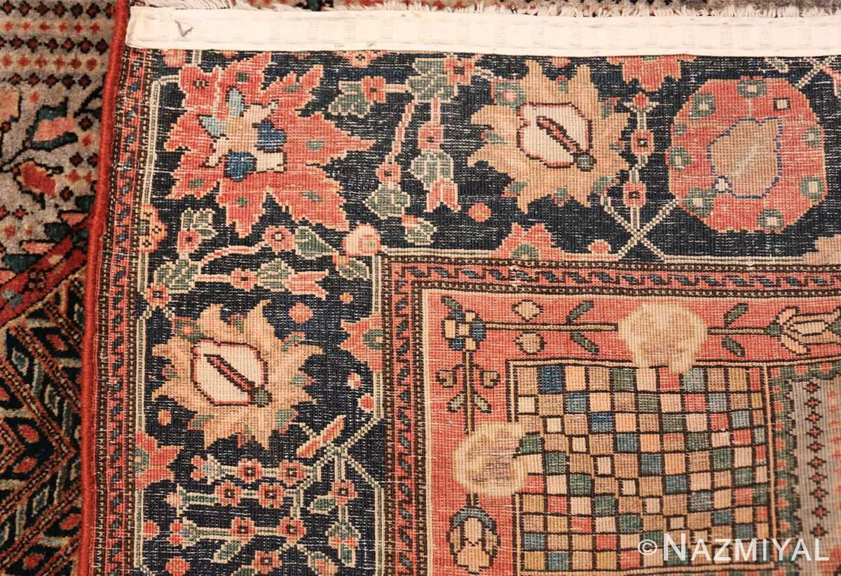 Small Size Antique Persian Farahan Rug 49842 Woven Knots Nazmiyal