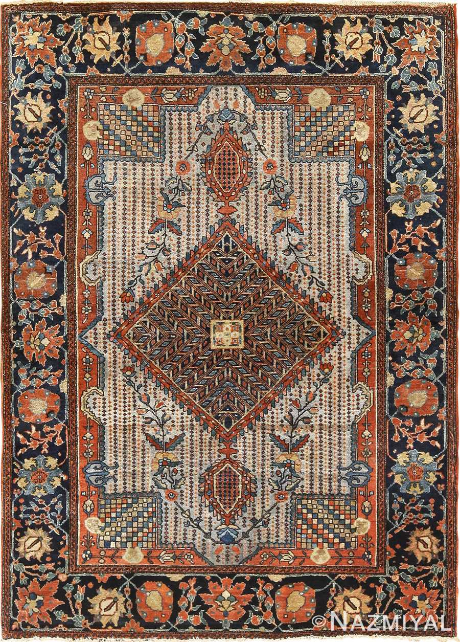 Small Size Antique Persian Farahan Sarouk Rug 49842 Nazmiyal