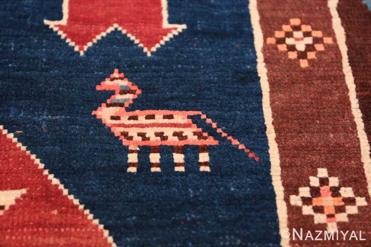 Small Size Tribal Antique Caucasian Avar Rug 49852 Colorful Horse Nazmiyal