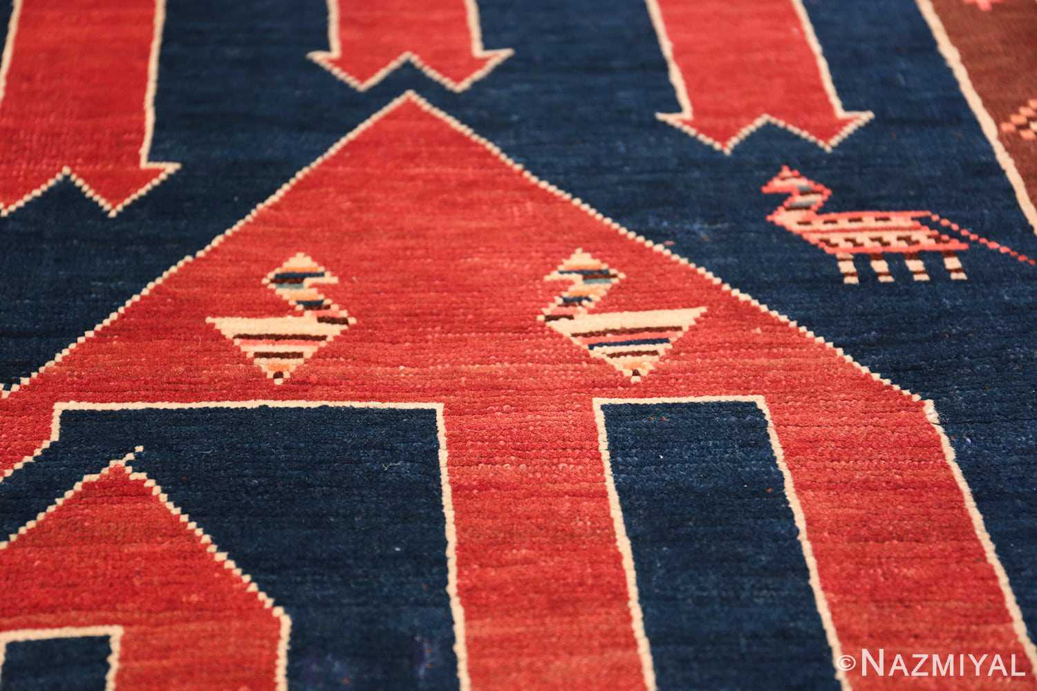 Small Size Tribal Antique Caucasian Avar Rug 49852 Sitting Birds Nazmiyal