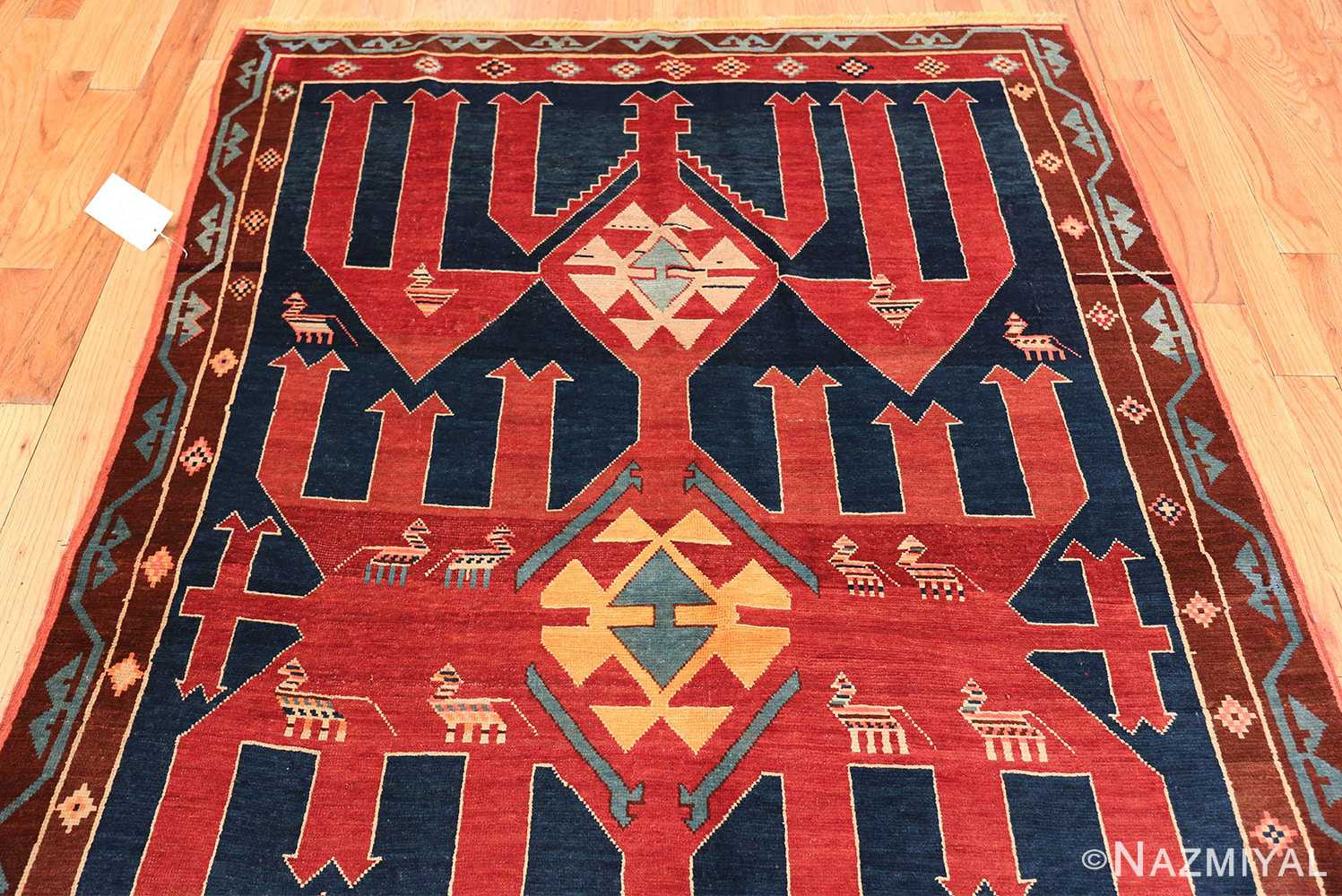 Small Size Tribal Antique Caucasian Avar Rug 49852 Top Design Nazmiyal