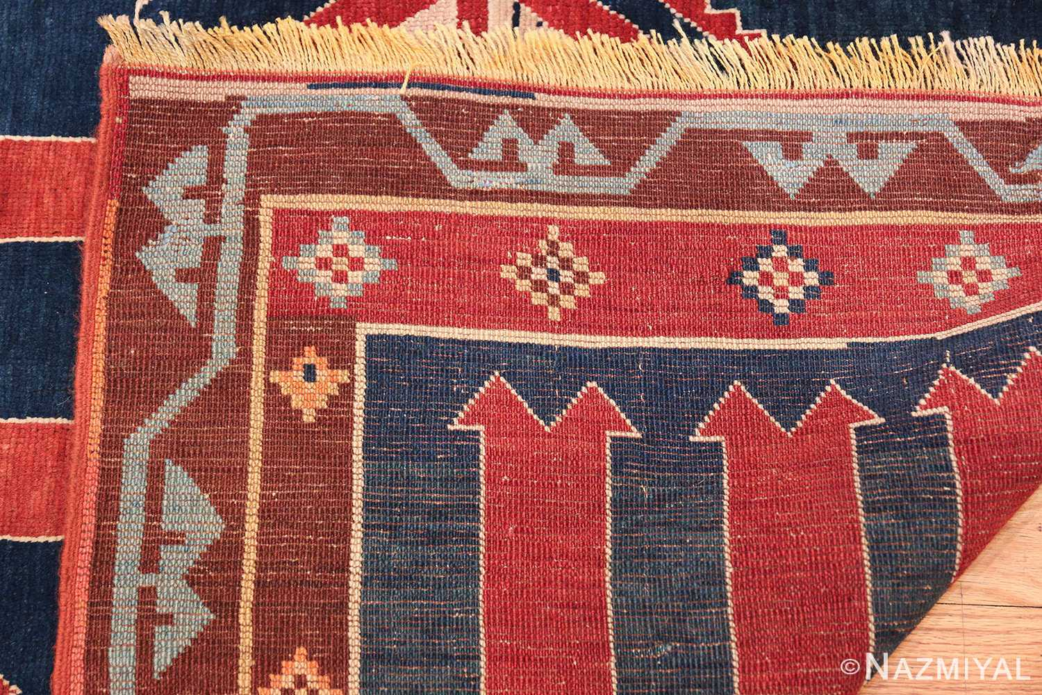 Small Size Tribal Antique Caucasian Avar Rug 49852 Woven Knots Nazmiyal