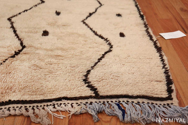 Small Size Vintage Moroccan Rug 49889 Side Corner Nazmiyal