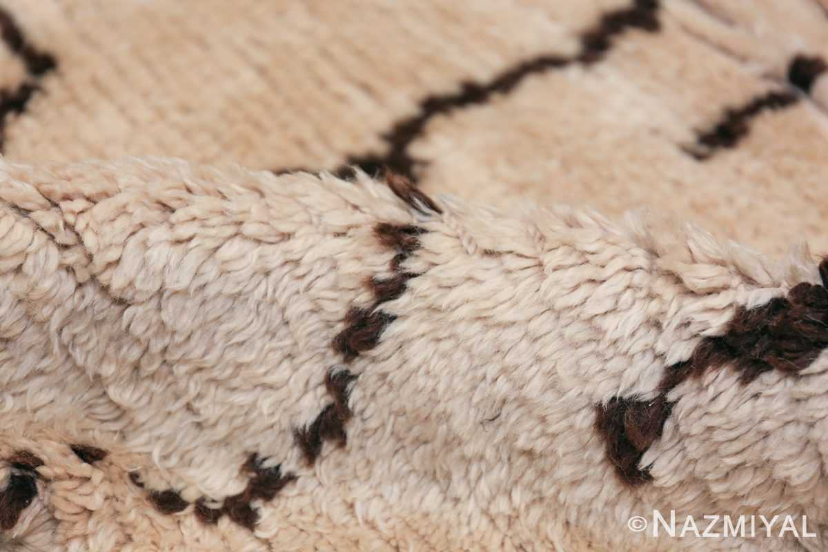 Tribal Room Size Vintage Moroccan Rug 49874 Ivory Pile Nazmiyal