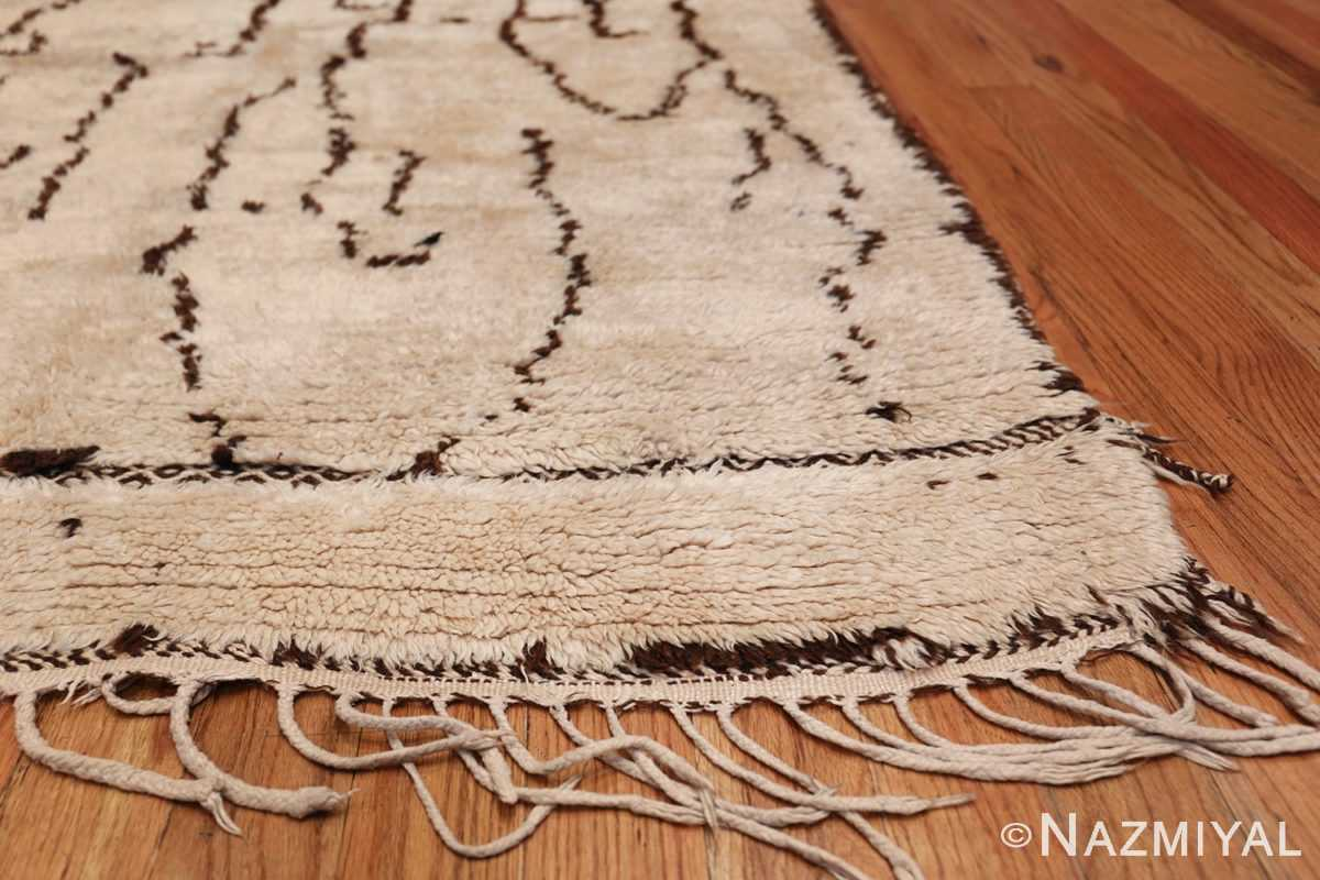 Tribal Room Size Vintage Moroccan Rug 49874 Side Corner Nazmiyal