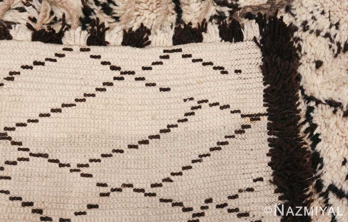 Vintage Ivory Moroccan Rug 49877 Woven Knots Nazmyal