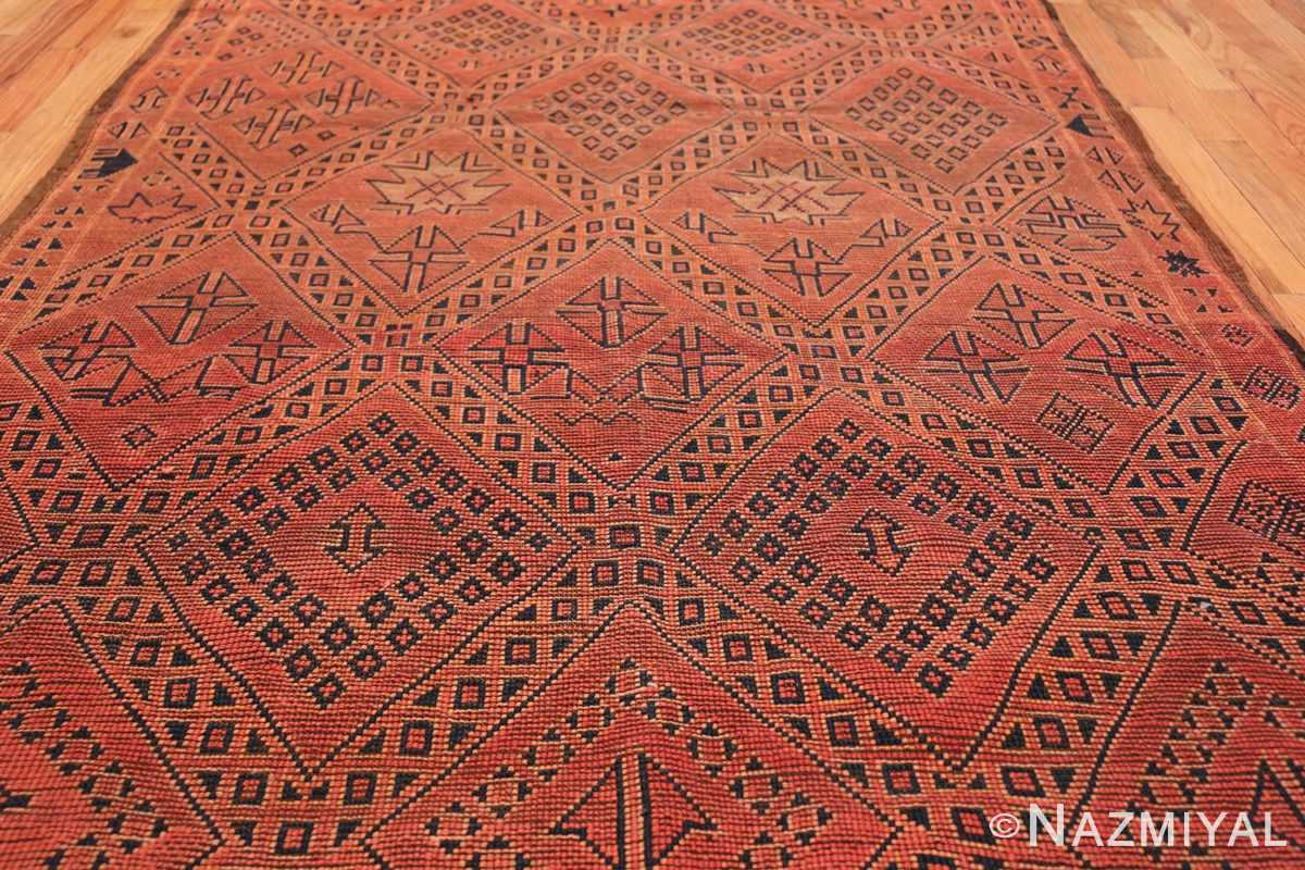 Vintage Room Size Double Sided Moroccan Rug 49880 Back Field Design Nazmiyal