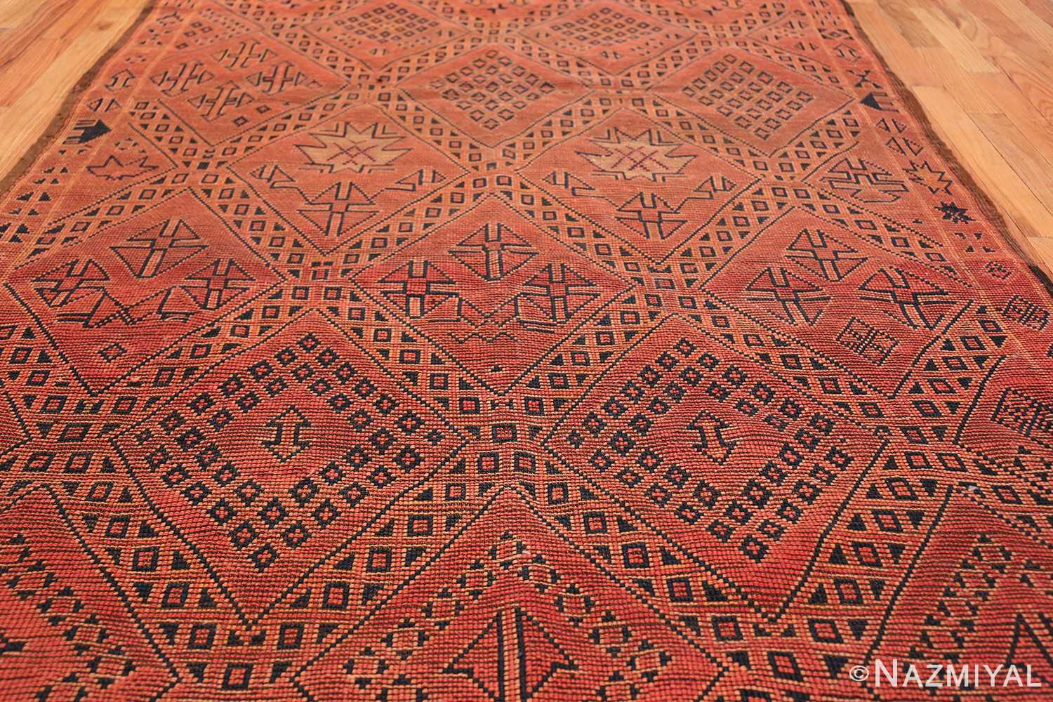 Vintage Gallery Size Red Berber Moroccan Rug 49880 By