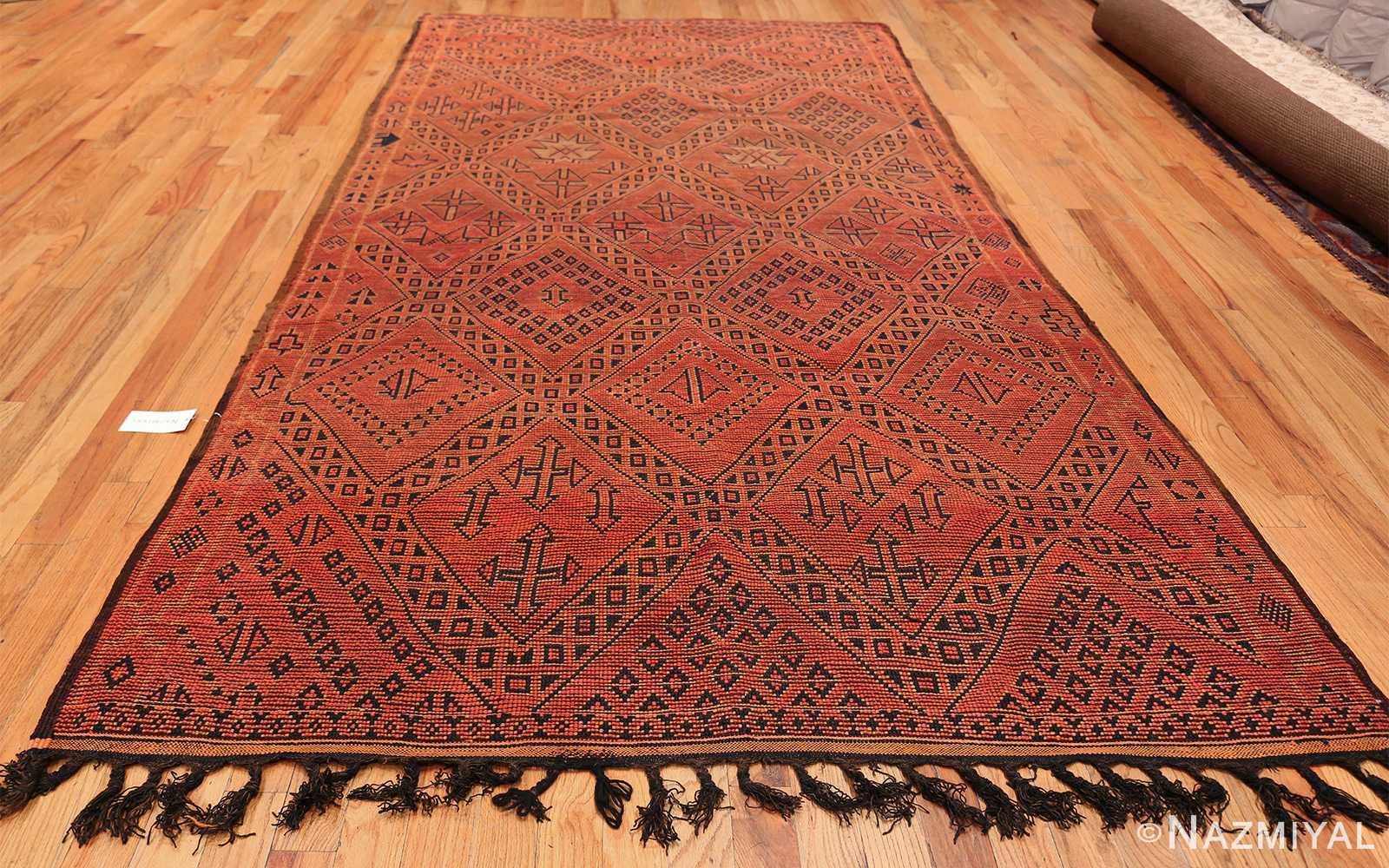 Vintage Room Size Double Sided Moroccan Rug 49880 Back Whole Design Nazmiyal