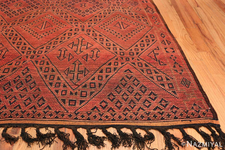 Vintage Room Size Double Sided Moroccan Rug 49880 Side Corner Nazmiyal