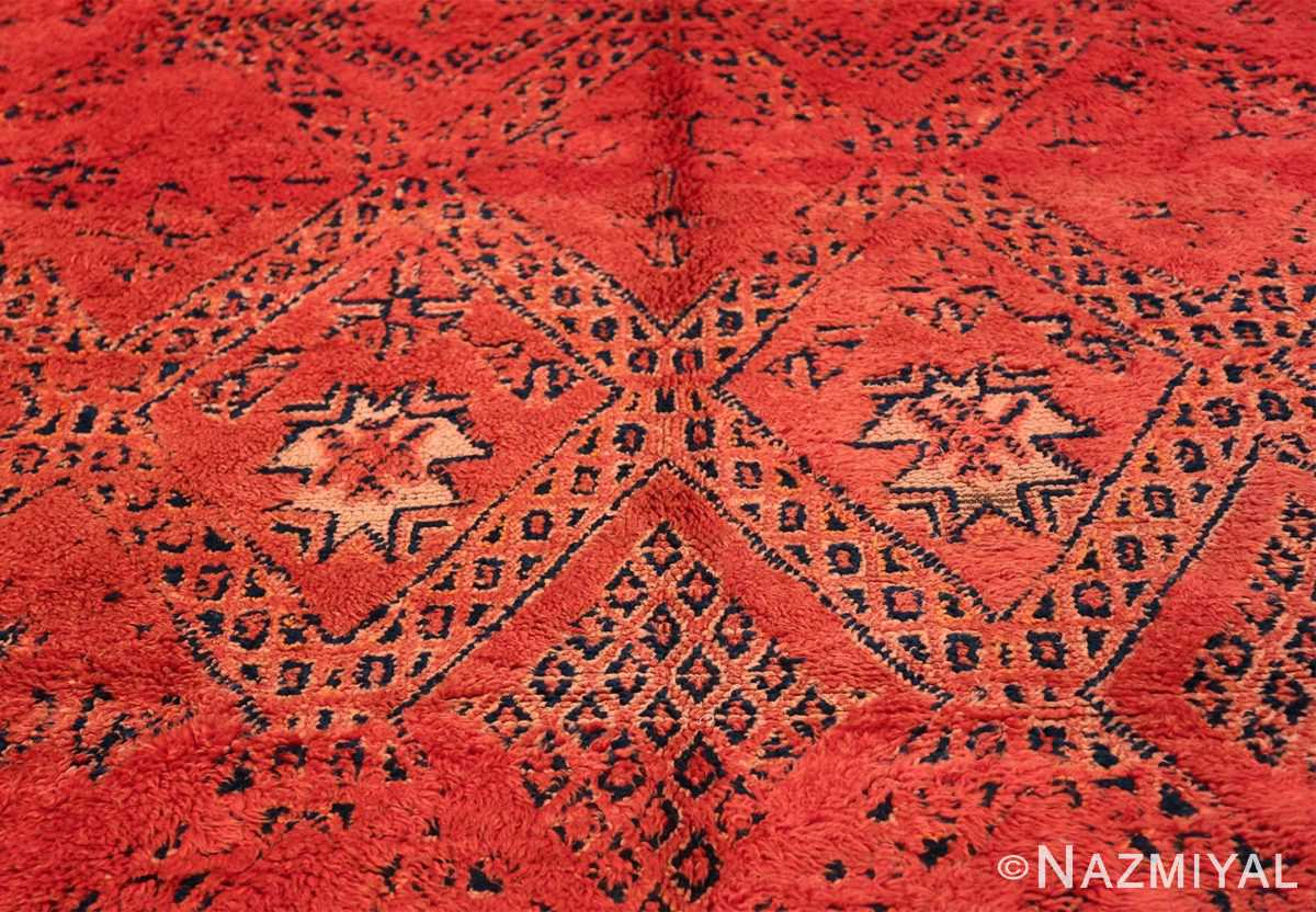 Vintage Room Size Double Sided Moroccan Rug 49880 Yellow Leaves Nazmiyal
