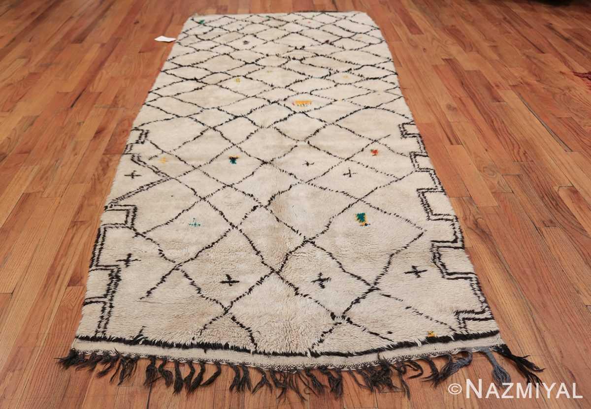 Wide Hallway Vintage Moroccan Rug 49885 Whole Design Nazmiyal