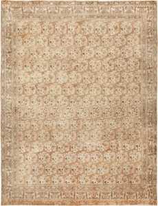 Antique Earth Tone Persian Bidjar Carpet by nazmiyal