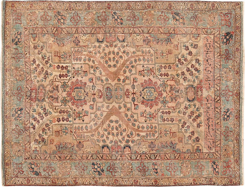 Picture of an antique Persian 17th century Khorassan Rug - Nazmiyal