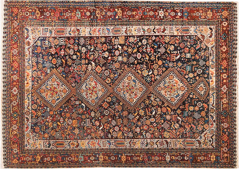 Picture of an antique Persian Qashqai Rug - Nazmiyal
