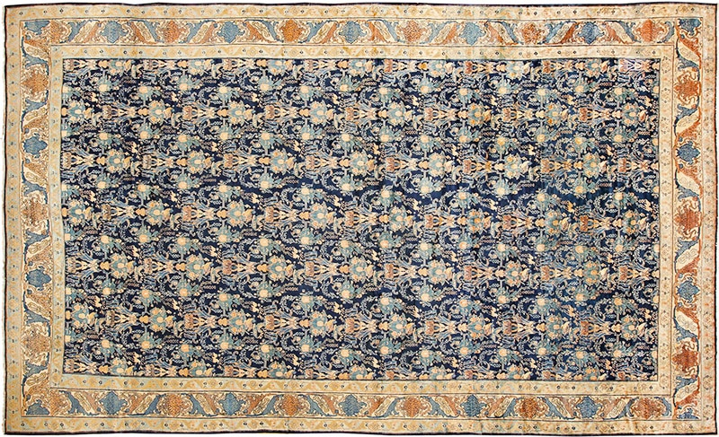 Picture of an antique Persian Senneh Rug - Nazmiyal