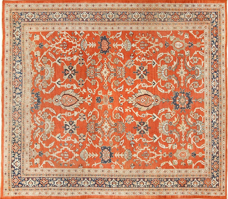 Picture of an antique Persian Sultanabad Rug