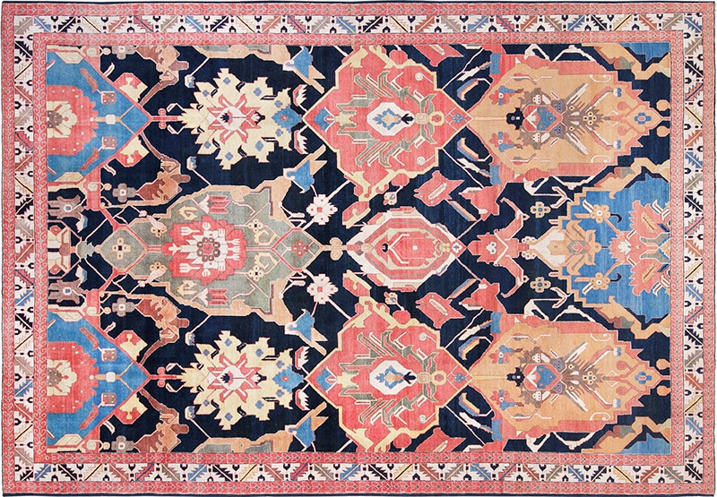 Picture of an antique Persian Tabriz Rug - Nazmiyal