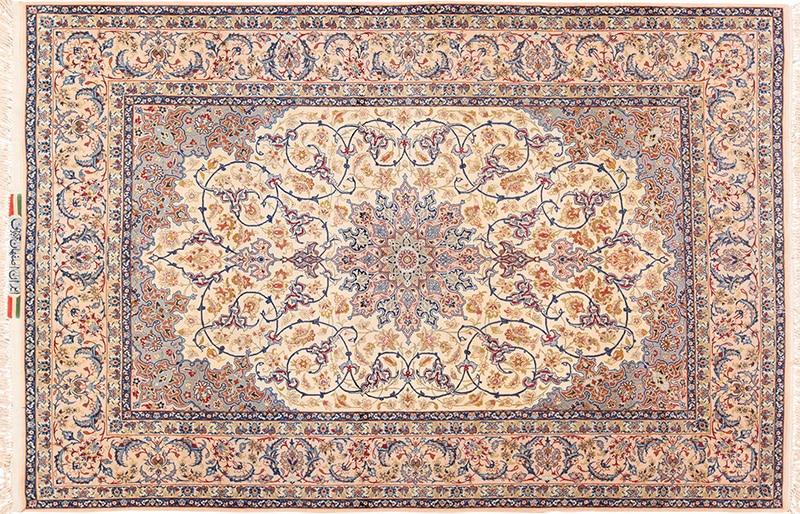 Picture of a vintage Persian Nain Isfahan rug - Nazmiyal