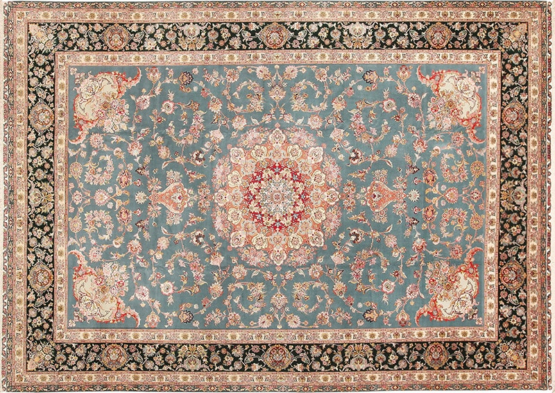 Picture of a vintage Persian Tabriz rug - Nazmiyal