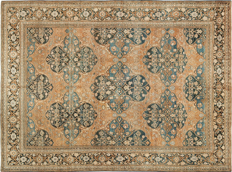 Picture of an antique Persian Khorassan rug - nazmiyal