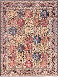 Room Size Antique Persian Tabriz Rug 48580 Nazmiyal
