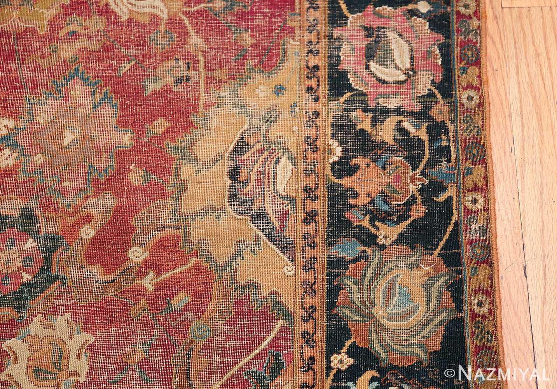 17th Century Wide Hallway Persian Isfahan Rug 49664 Border Design Nazmiyal
