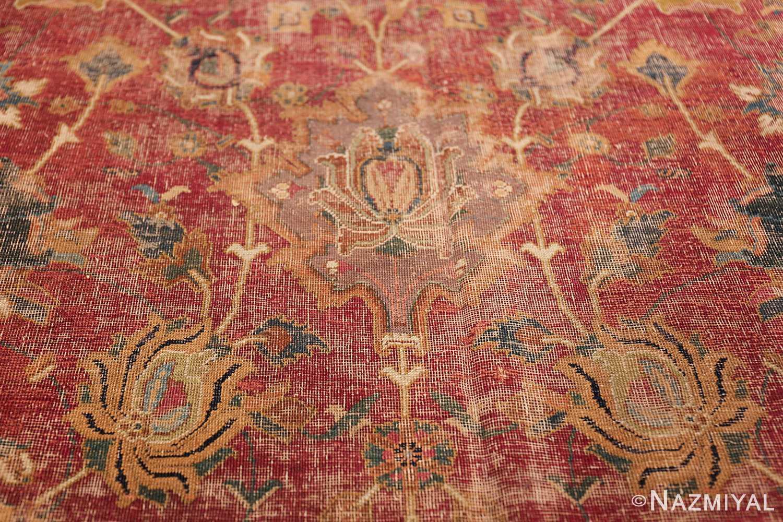 17th Century Wide Hallway Persian Isfahan Rug 49664 Golden Branches Nazmiyal