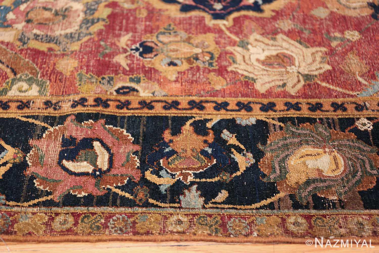 17th Century Wide Hallway Persian Isfahan Rug 49664 Tiny Shapes Nazmiyal