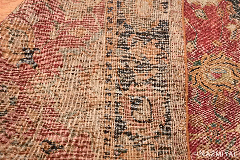 17th Century Wide Hallway Persian Isfahan Rug 49664 Woven Knots Nazmiyal