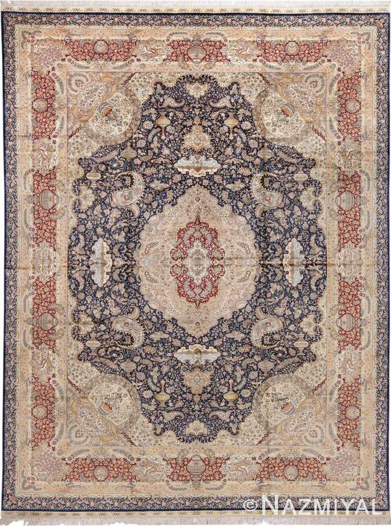 Animal Motif Silk Modern Chinese Rug 49923 Nazmiyal